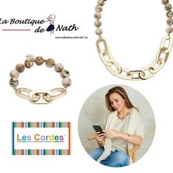 """Un superbe ensemble """"Les Cordes"""" - Marque Belge :  Le collier (45€) et le bracelet DINKY Beige (29€) (Existe aussi en noir)  A porter ensemble ou séparément évidemment!  🌐 www.laboutiquedenath.be  🚚 Envoi Colis gratuit en Belgique dès 50€ d'achat - Retrait gratuit sur Lantin (Juprelle) - Livraison en France et au Grand-Duché  #laboutiquedenath #LesCordes #oorbellen #accessoires #juwelen #nouvellecollection #bijoux #jewelry #fashion #moda #bracelet #jewels #love #style #accessories #nieuwecollectie #jewellery #bijouxlovers #earrings #necklace #gioielli #bijouxias #orecchini #bracelets #colliers #collier #armband #goudkleurig #kleur #kleuren"""