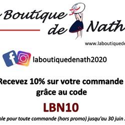 ALERTE PROMO avant les soldes : 10% sur l'ensemble de votre commande grâce au code ci-dessous (hors promo)  🌐 www.laboutiquedenath.be  🚚 Envoi Colis gratuit en Belgique dès 50€ d'achat - Retrait gratuit sur Lantin (Juprelle) ou au nouveau marché hebdomadaire de Juprelle (Samedi) - Livraison en France et au Grand-Duché  #laboutiquedenath #sacamain #sac #bougie #nokiss #chaussure #mode #sneakers #basket #sactendance #sacbandouliere #bougieparfumee  #bonnet #echarpe #accessoires #poncho #ponchostyle #LesCordes #nouvellecollection #bijoux #moda #jewels #accessories #bijouxlovers #bracelets #collier #bracelet  #asymétriques #triptyques